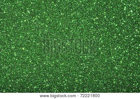 Green Sequins Background