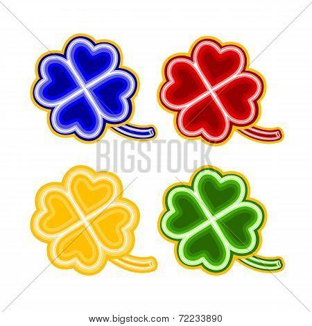 Christmas Trimmings Four-leaf-clover  Faience Vector