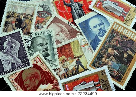 Lenin on stamps