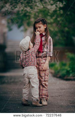 little boy tach sister eyes