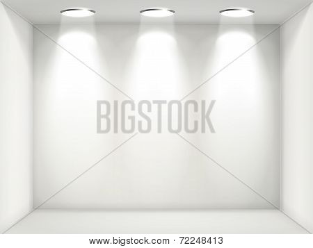 White Wall With Empty Niche