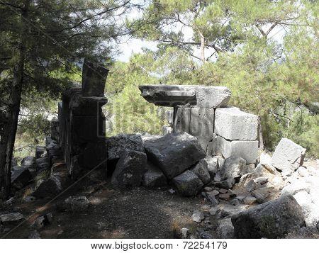 Preserved Roman tomb in Kadyanda.