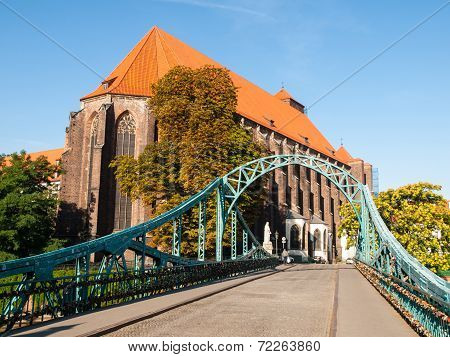 Tumski Bridge In Wroclaw