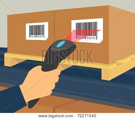 Barcode scanning at the warehouse