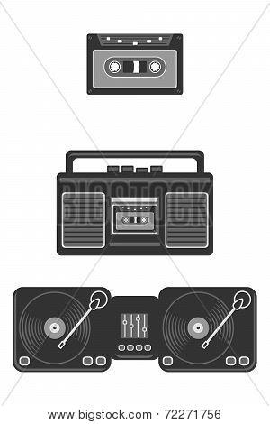 retro musical devices