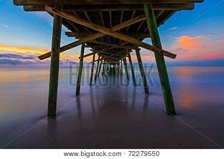 Bogue Inlet Pier At Daybreak