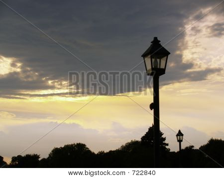 Lamppost Silhouette