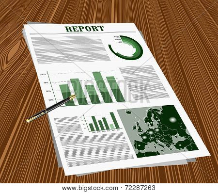 Business report on the desk