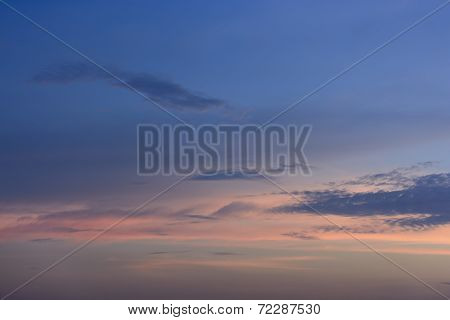 Clouds in the evening, sky