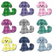 scrapbook dogs on white background vector illustration poster