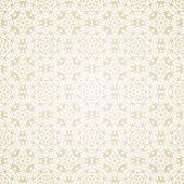 Seamless wallpaper. Vintage islamic motif background. Vector illustration poster