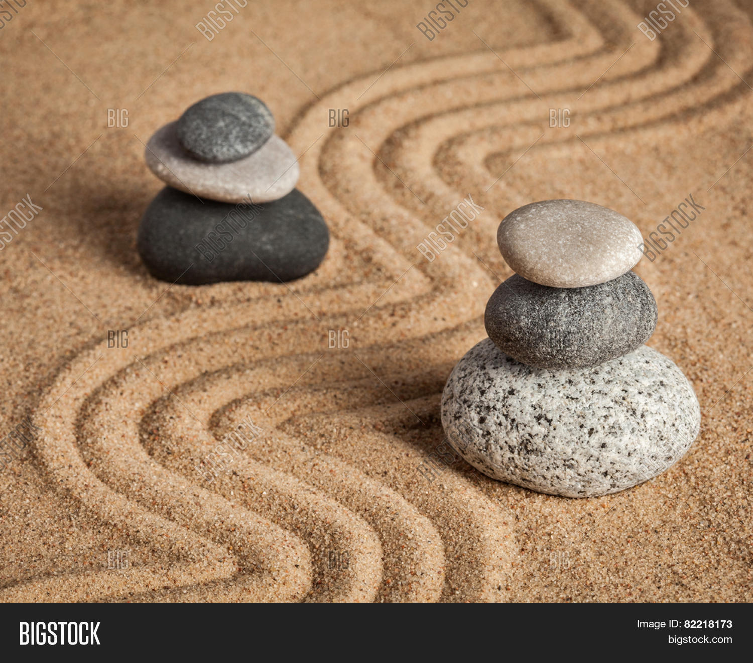 Japanese Zen Stone Garden - Image & Photo | Bigstock