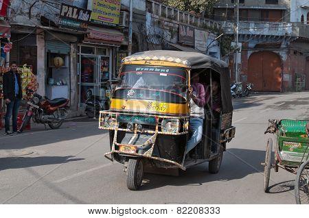 Auto Rickshaw Or Tuk-tuk On The Street