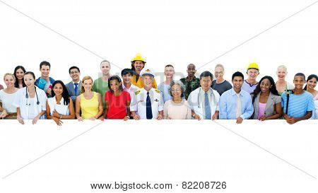 Diversity of Professional Occupation People Workers Togetherness Concept poster