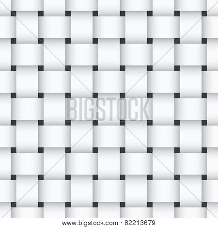 White Weaving Seamless Pattern