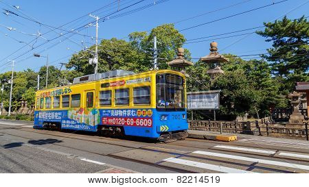 Hankai Tram in Osaka Japan