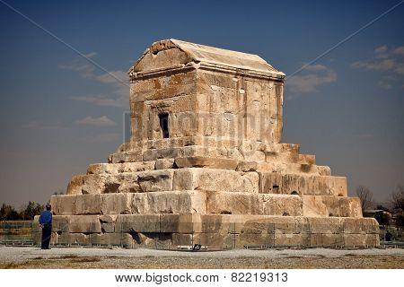 Tomb Of Cyrus In Pasargadae Of Shiraz