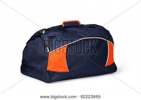 travel bag on a white background