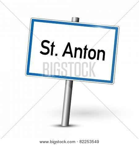 City sign - St. Anton - Austria