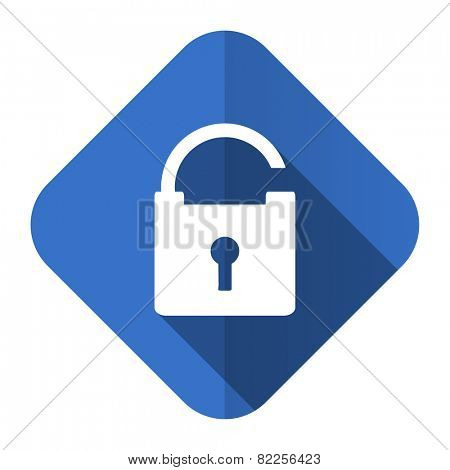 padlock flat icon secure sign  poster