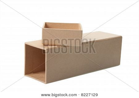 Open Cardboard Box With Lid