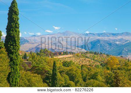Amazing Landscape Of Alhambra Surroundings