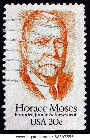 Postage Stamp Usa 1984 Horace Augustus Moses, Prominent Industrialist