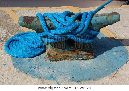 Rope on a dockside