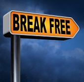 break free from prison pressure or quit job running away towards stress free world no rules  poster