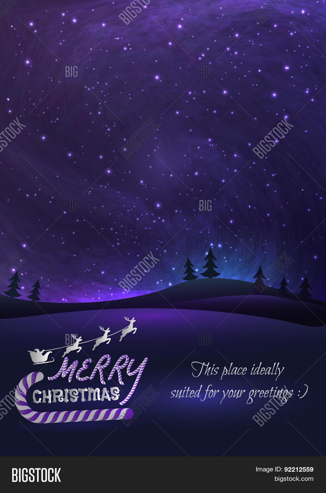 Merry Christmas Vector Photo Free Trial Bigstock