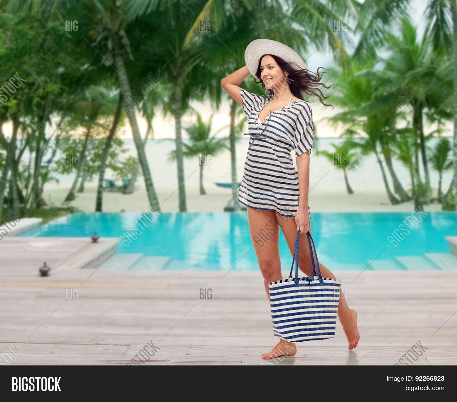 People Fashion Summer And Beach Concept Hy Young Woman In Clothes