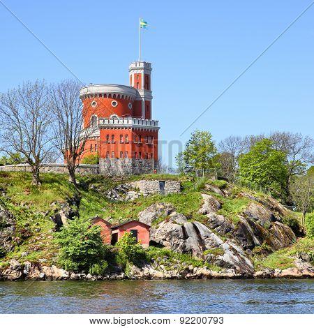 Kastellet fortress on a small island in Stockholm, Sweden