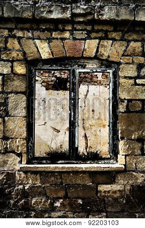 derelict window frame