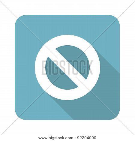 NO sign square icon