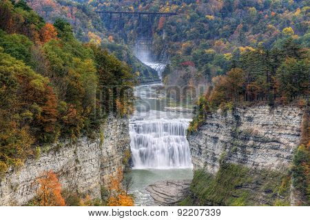 Middle Falls At Letchworth State Park