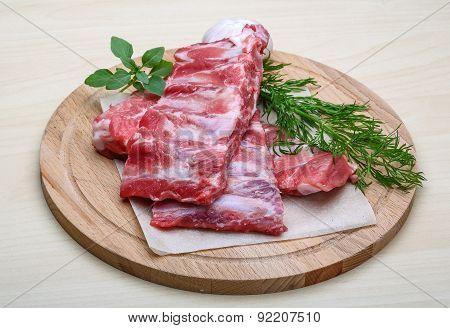 Raw Pork Ribs