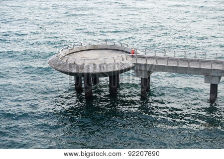 Observation Pier At Marina Barrage, Singapore