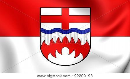 Flag Of Paderborn, Germany.