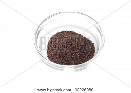 Black Ceylon tea in a Cup on white background
