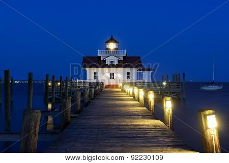 Roanoke Marshes Lighthouse at Twilight - Outer Banks