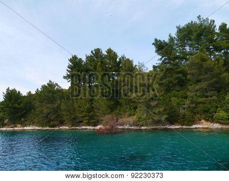 The Lovisce bay of the Croatian island Scedro