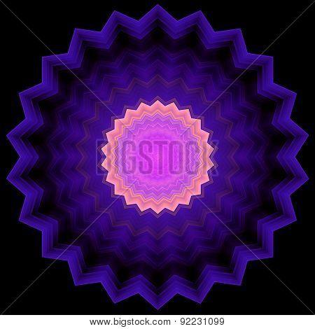 Serrated Circle - Geometric Ornament
