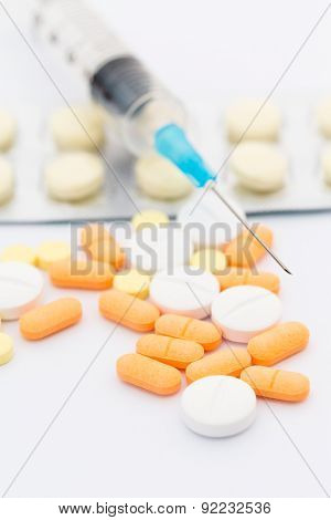 Pills and syrings