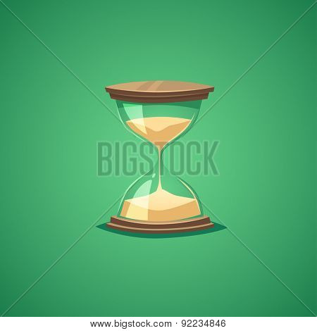 Sand watch. Isolated object \ background.
