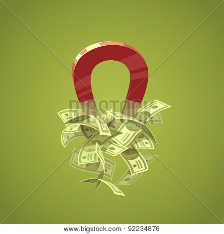 Money magnet. Isolated object \ background.