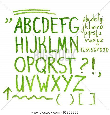 Hand drawn marker artistic font
