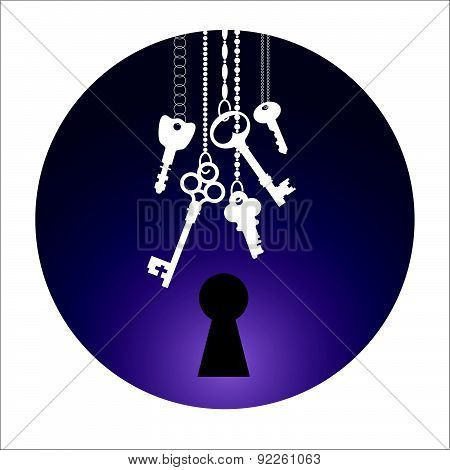 Vector Illustration Of Keys.
