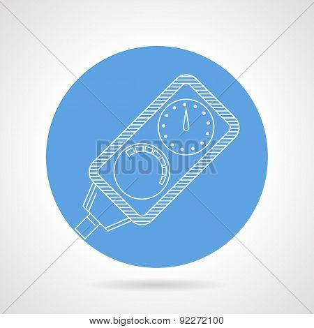 Diving console round vector icon