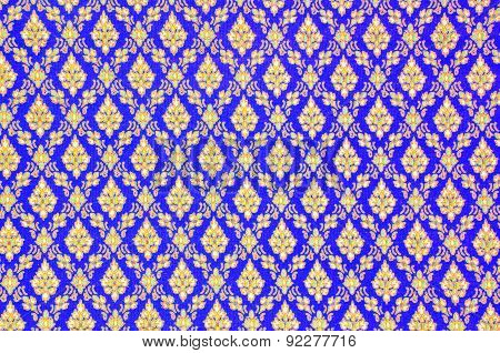 Pattern Texture Of General Traditional Thai Style Native Handmade Batik Fabric Weave