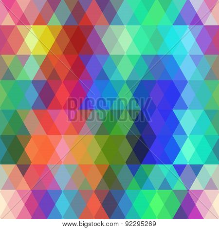 Abstract hipsters seamless pattern with colored rhombus. Geometric background. Vector illustration poster